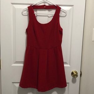 Forever 21 red sleeveless dress, size M.